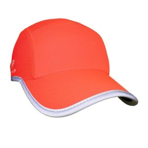 Headsweats Race Hats Hi Vis Coral w-Reflective Piping_1